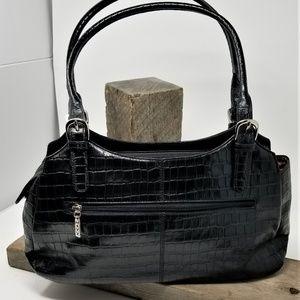 Maxx  New York Croco Embossed Leather Black